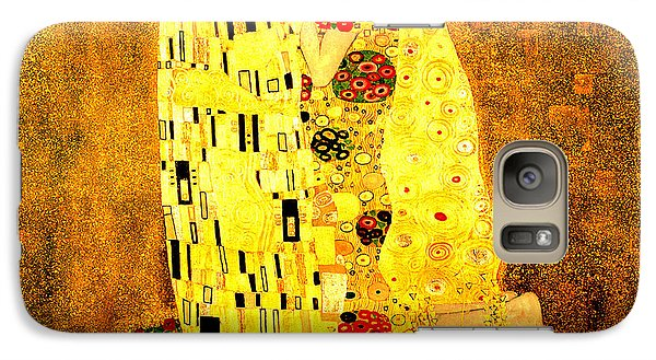 Galaxy Case featuring the digital art The Kiss by Gustav Klimt
