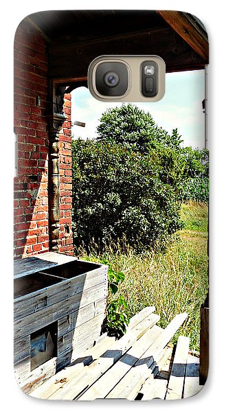 Galaxy Case featuring the photograph The Perfect Creepy House by Cyryn Fyrcyd