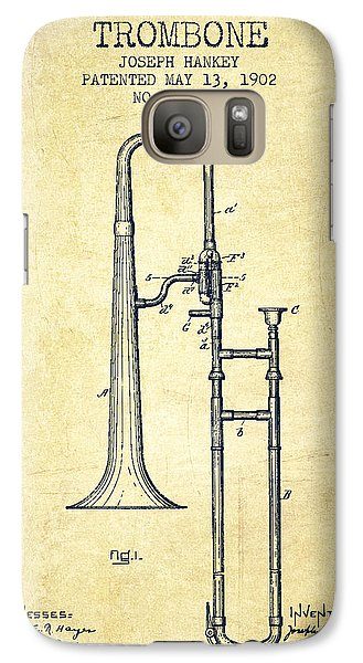 Trombone Galaxy S7 Case - Trombone Patent From 1902 - Vintage by Aged Pixel