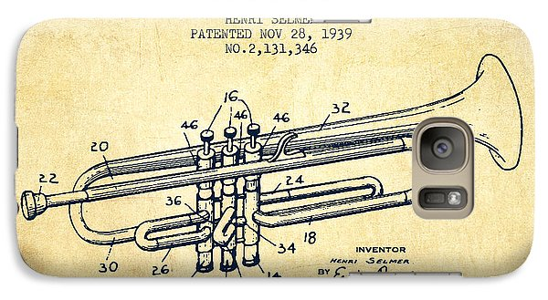Vinatge Trumpet Patent From 1939 Galaxy Case by Aged Pixel