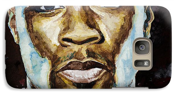 Galaxy Case featuring the painting 50 Cent by Laur Iduc