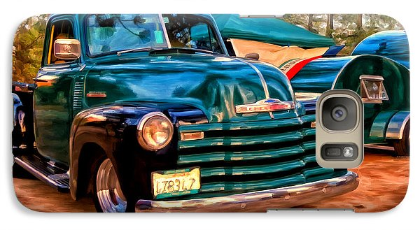 Galaxy Case featuring the painting '51 Chevy Pickup With Teardrop Trailer by Michael Pickett