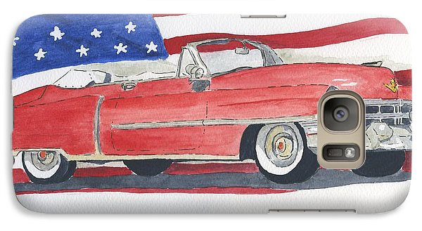 Galaxy Case featuring the painting 52 Cadillac Convertible by Eva Ason
