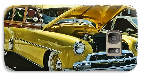 Galaxy Case featuring the photograph '52 Chevy Wagon by Victor Montgomery