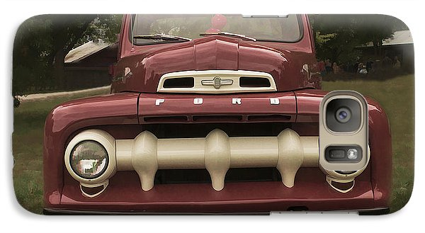 Galaxy Case featuring the photograph '52 Ford Pickup by Wayne Meyer