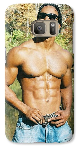Galaxy Case featuring the photograph The Art Of Muscle by Jake Hartz
