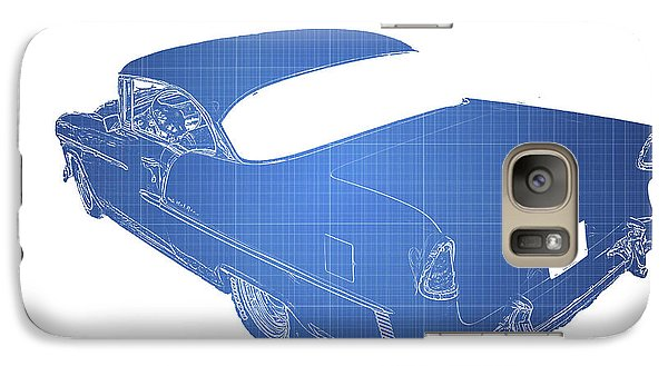 Vintage Car Galaxy Case featuring the photograph '55 Bel Air by Aaron Berg
