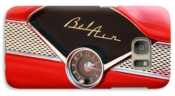 Vintage Car Galaxy Case featuring the photograph '56 Bel Air by Aaron Berg
