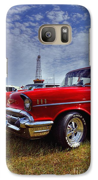Galaxy Case featuring the photograph 57 Chevy Belair by Trey Foerster