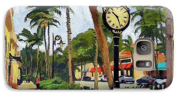 Egret Galaxy S7 Case - 5th Avenue Naples Florida by Christine Hopkins
