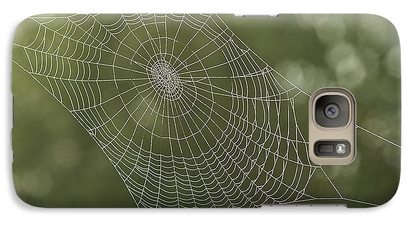 Galaxy Case featuring the photograph  Spiderweb by Odon Czintos