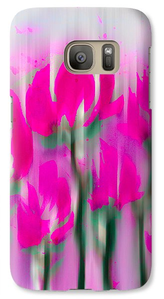 Galaxy Case featuring the digital art 6 1/2 Flowers by Frank Bright