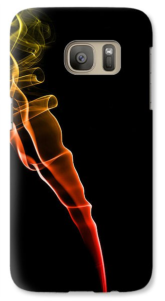 Colours Galaxy S7 Case - Colourful Smoke by Samuel Whitton