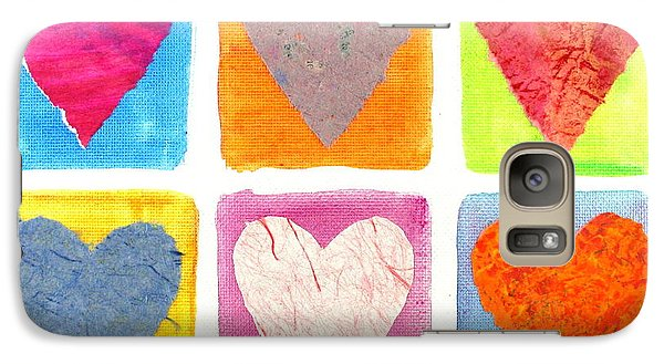 Galaxy Case featuring the painting 6 Hearts Collage by Bob Baker