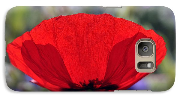 Galaxy Case featuring the photograph Poppy Flower by George Atsametakis
