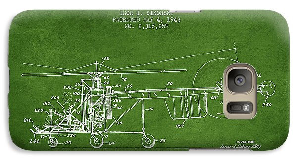 Sikorsky Helicopter Patent Drawing From 1943 Galaxy S7 Case by Aged Pixel