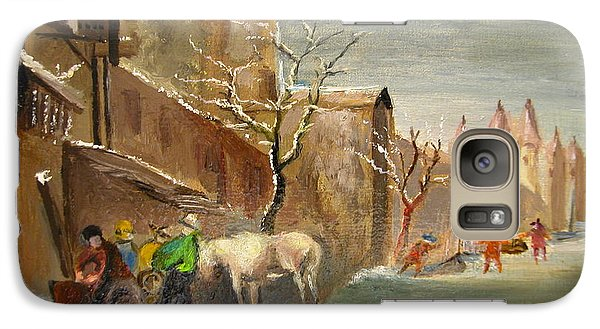 Galaxy Case featuring the painting Winter Landscape by Egidio Graziani