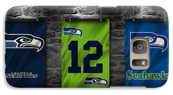 Seattle Seahawks Galaxy S7 Case by Joe Hamilton