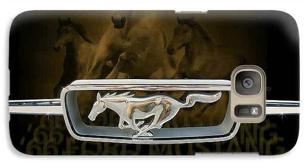 Galaxy Case featuring the digital art '66 Ford Mustang by Doug Kreuger