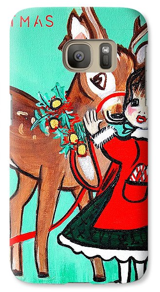Galaxy Case featuring the painting Art Deco by Nora Shepley