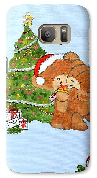 Galaxy Case featuring the painting Merry Christmas by Magdalena Frohnsdorff