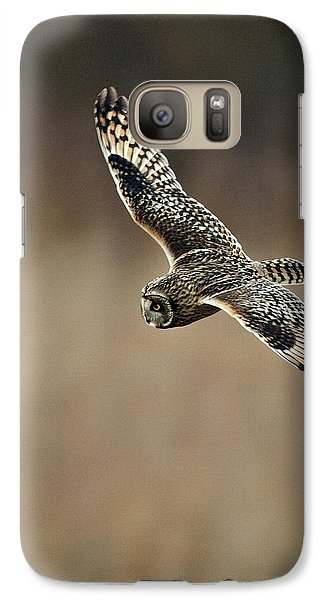 Galaxy Case featuring the photograph Short Eared Owl  by Paul Scoullar