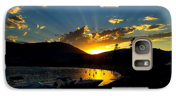 Galaxy Case featuring the photograph Skaha Lake Sunset by Guy Hoffman