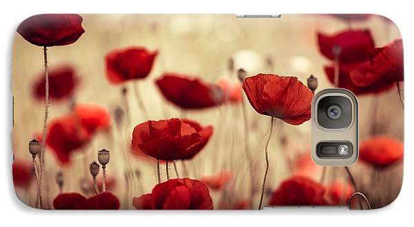 Flowers Galaxy S7 Case - Summer Poppy by Nailia Schwarz