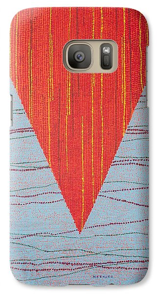 Galaxy Case featuring the painting Untitled by Kyung Hee Hogg