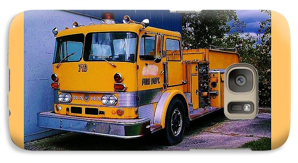 Galaxy Case featuring the photograph 710 ....... Fire Dept. by Daniel Thompson