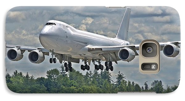 Galaxy Case featuring the photograph 747 Landing by Jeff Cook