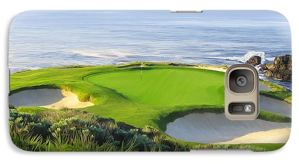 7th Hole At Pebble Beach Galaxy S7 Case