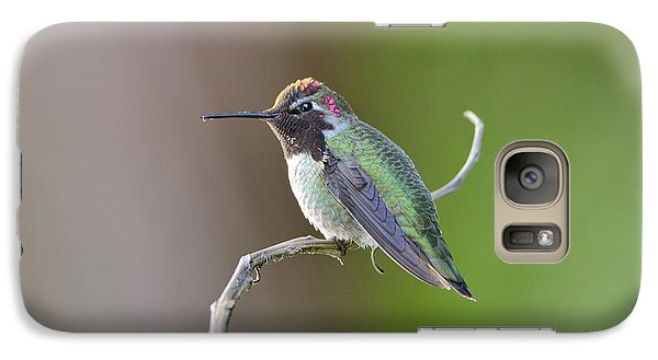Galaxy Case featuring the photograph Anna's Hummingbird by Kathy King
