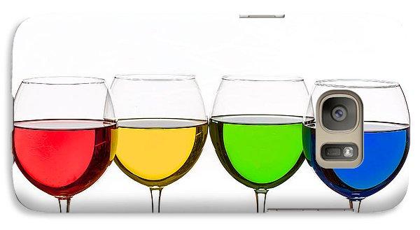 Colorful Wine Glasses Galaxy S7 Case