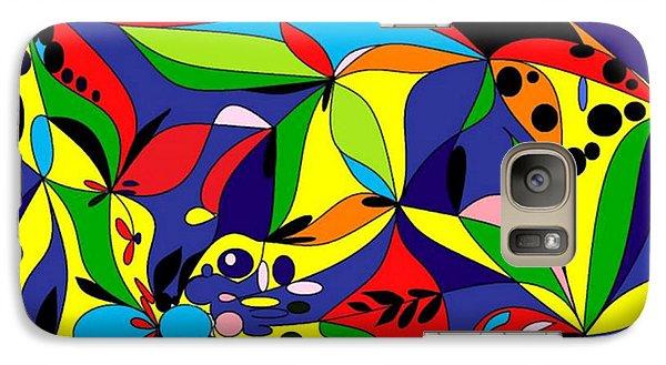 Galaxy Case featuring the digital art Design By Loxi Sibley by Loxi Sibley