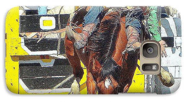 Galaxy Case featuring the photograph 8 Seconds-3 by Barbara Dudley