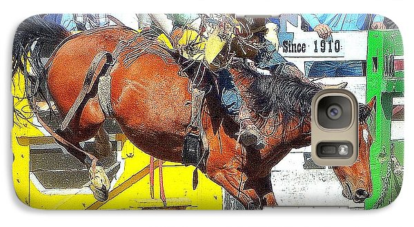 Galaxy Case featuring the photograph 8 Seconds-4 by Barbara Dudley