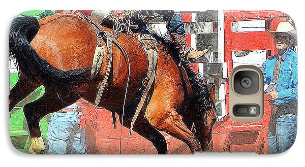 Galaxy Case featuring the photograph 8 Seconds-5 by Barbara Dudley
