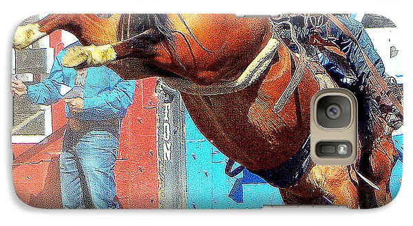 Galaxy Case featuring the photograph 8 Seconds-6 by Barbara Dudley
