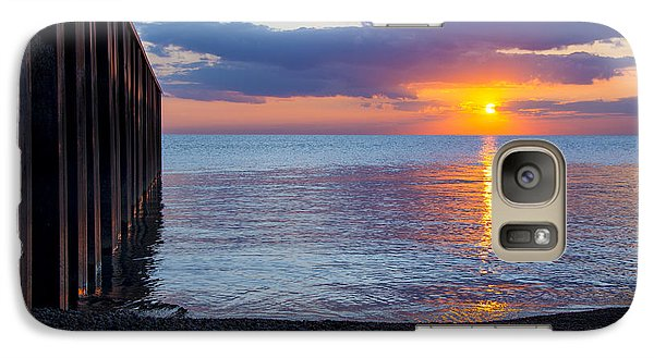 Galaxy Case featuring the photograph 8.16.13 Sunrise Over Lake Michigan North Of Chicago 001 by Michael  Bennett