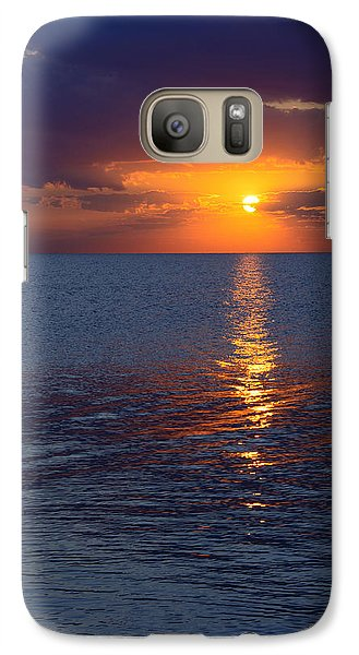Galaxy Case featuring the photograph 8.16.13 Sunrise Over Lake Michigan North Of Chicago 002 by Michael  Bennett