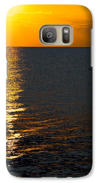 Galaxy Case featuring the photograph 8.16.13 Sunrise Over Lake Michigan North Of Chicago 003 by Michael  Bennett