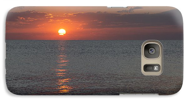 Galaxy Case featuring the photograph 8.16.13 Sunrise Over Lake Michigan North Of Chicago 004 by Michael  Bennett