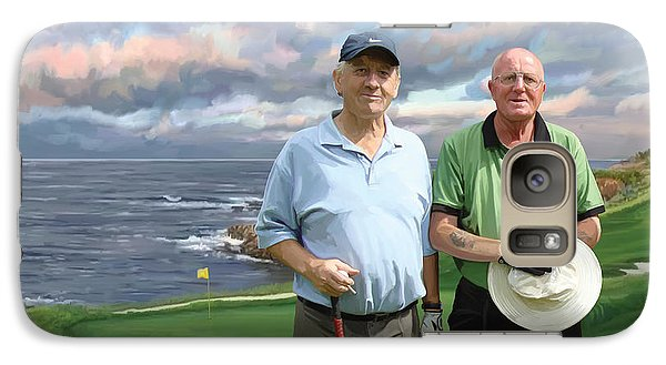 Galaxy Case featuring the painting 8th Hole Pebble Beach by Tim Gilliland