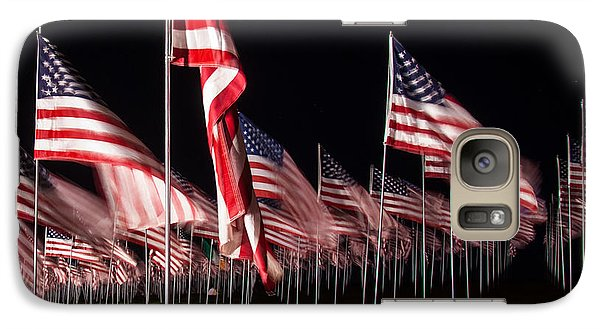 Galaxy Case featuring the digital art 9-11 Flags by Gandz Photography