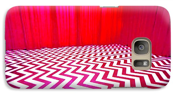 Galaxy Case featuring the painting Black Lodge by Luis Ludzska
