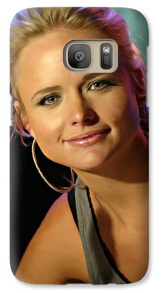 Galaxy Case featuring the photograph Miranda Lambert by Don Olea