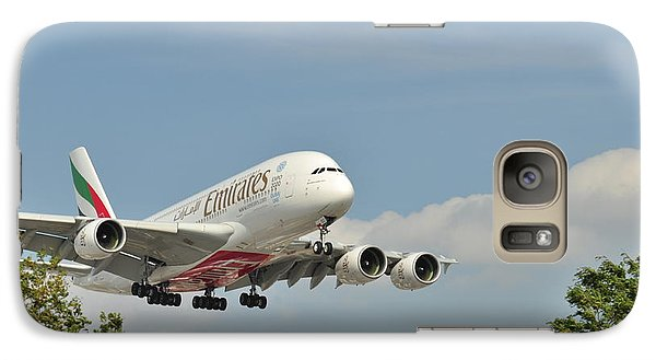 Galaxy Case featuring the photograph A 3800 Emirates by Puzzles Shum