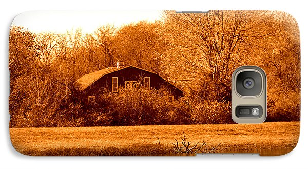 Galaxy Case featuring the photograph A Barn On The Lake by Karen Kersey