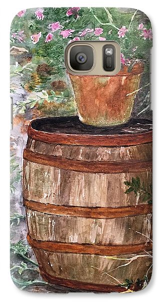 Galaxy Case featuring the painting A Barrel Of Flowers by Lucia Grilletto